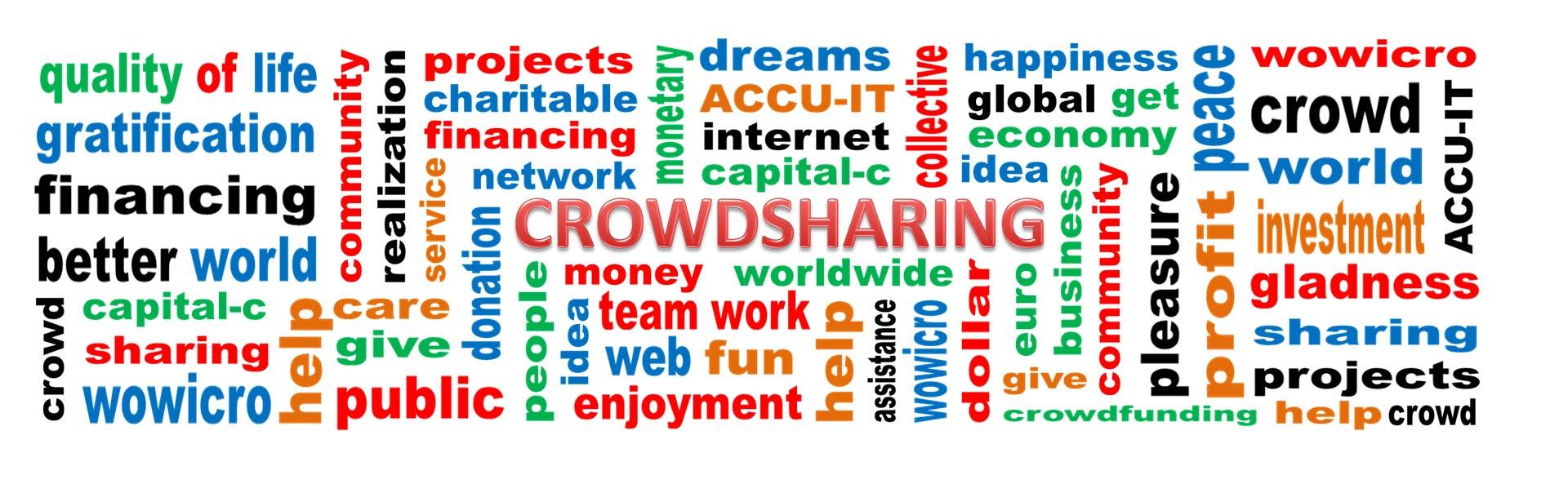 Crowdfunding - Viele Wörter zum Begriff